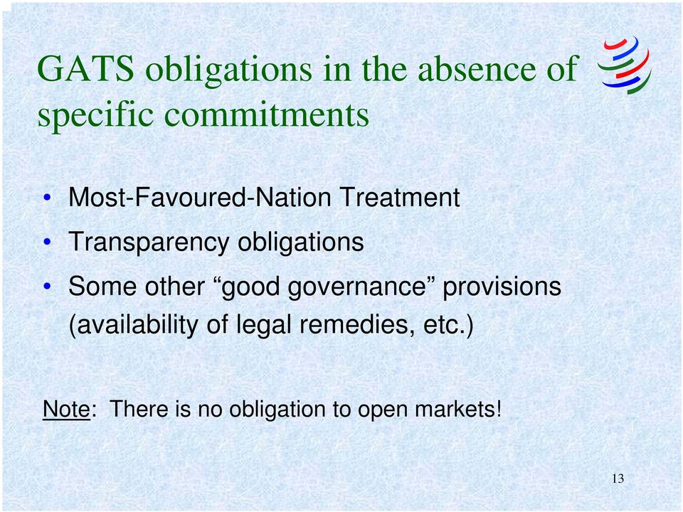 Some other good governance provisions (availability of