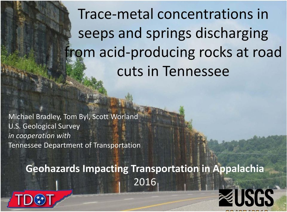 Scott Worland U.S. Geological Survey in cooperation with Tennessee