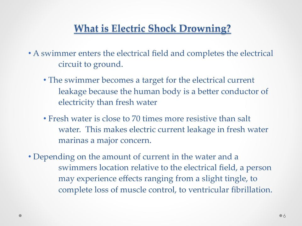 Electric Current Locator : Marina dock safety and electric shock drowning pdf