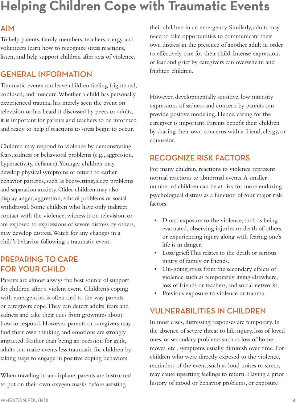 HELPING CHILDREN COPE WITH TRAUMATIC EVENTS - PDF