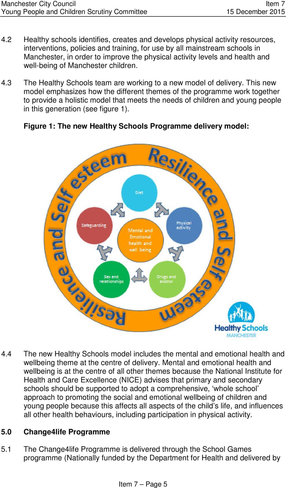 This new model emphasizes how the different themes of the programme work together to provide a holistic model that meets the needs of children and young people in this generation (see figure 1).