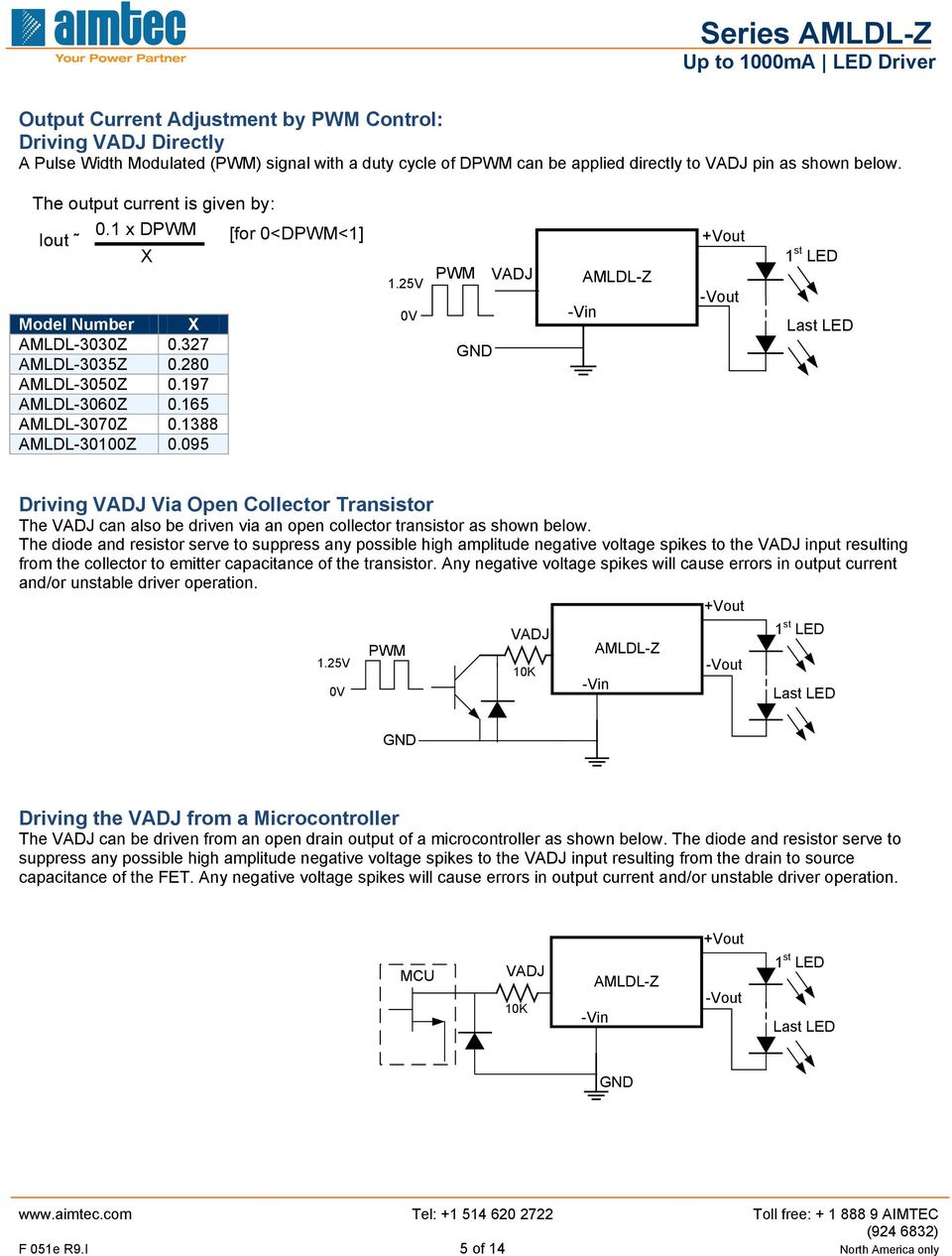 V V PWM st LED Driving Via Open Collector Transistor The can also be driven via an open collector transistor as shown below.