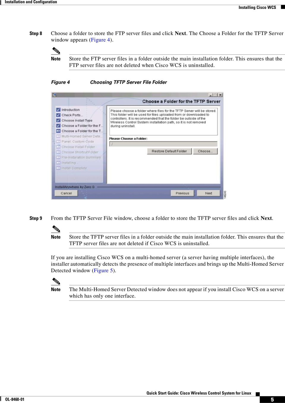 Figure 4 Choosing TFTP Server File Folder Step 9 From the TFTP Server File window, choose a folder to store the TFTP server files and click Next.