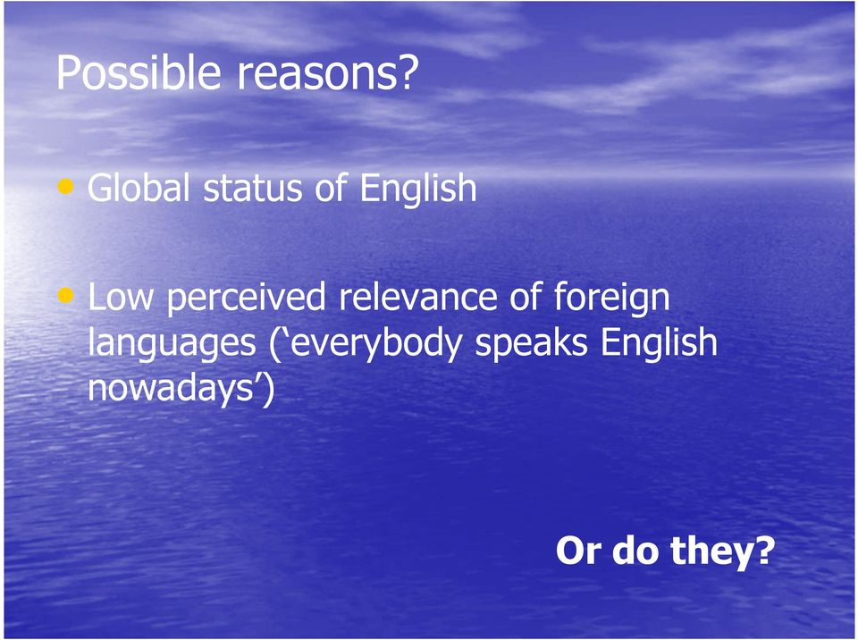 perceived relevance of foreign