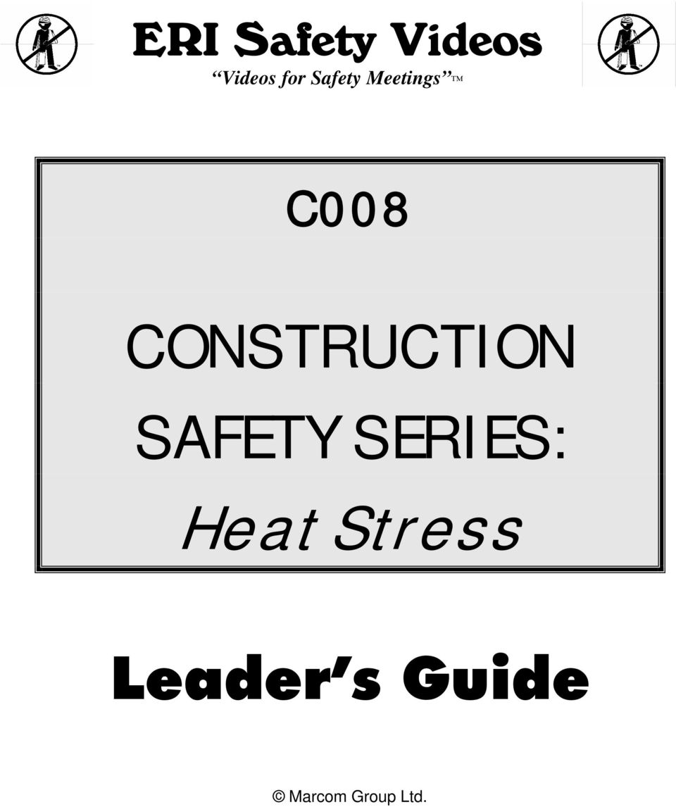 CONSTRUCTION SAFETY SERIES: