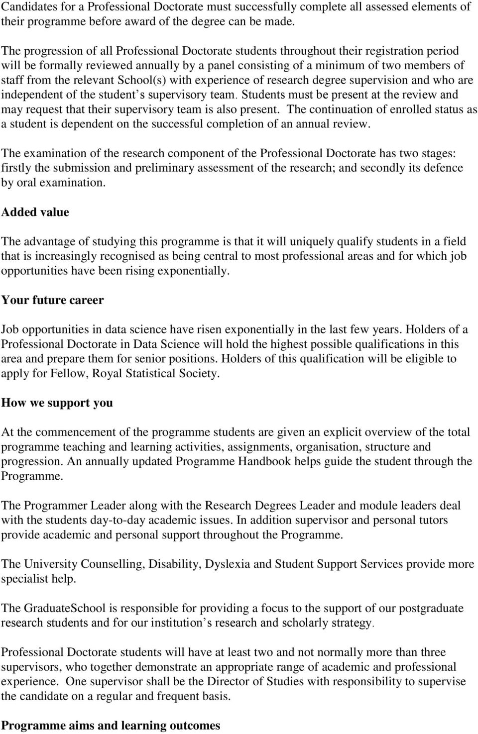 relevant School(s) with experience of research degree supervision and who are independent of the student s supervisory team.
