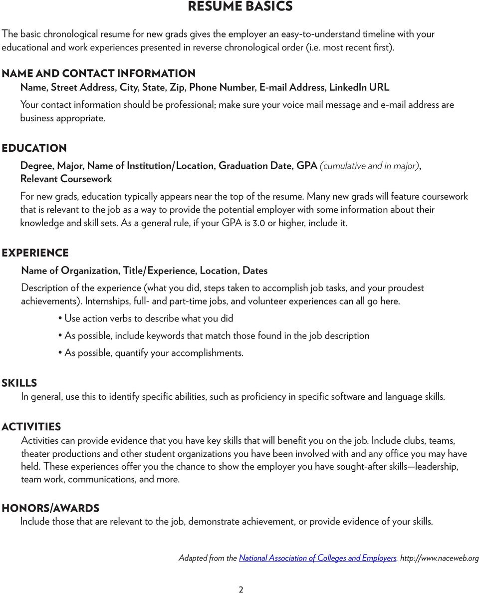 Additional coursework on resume relative