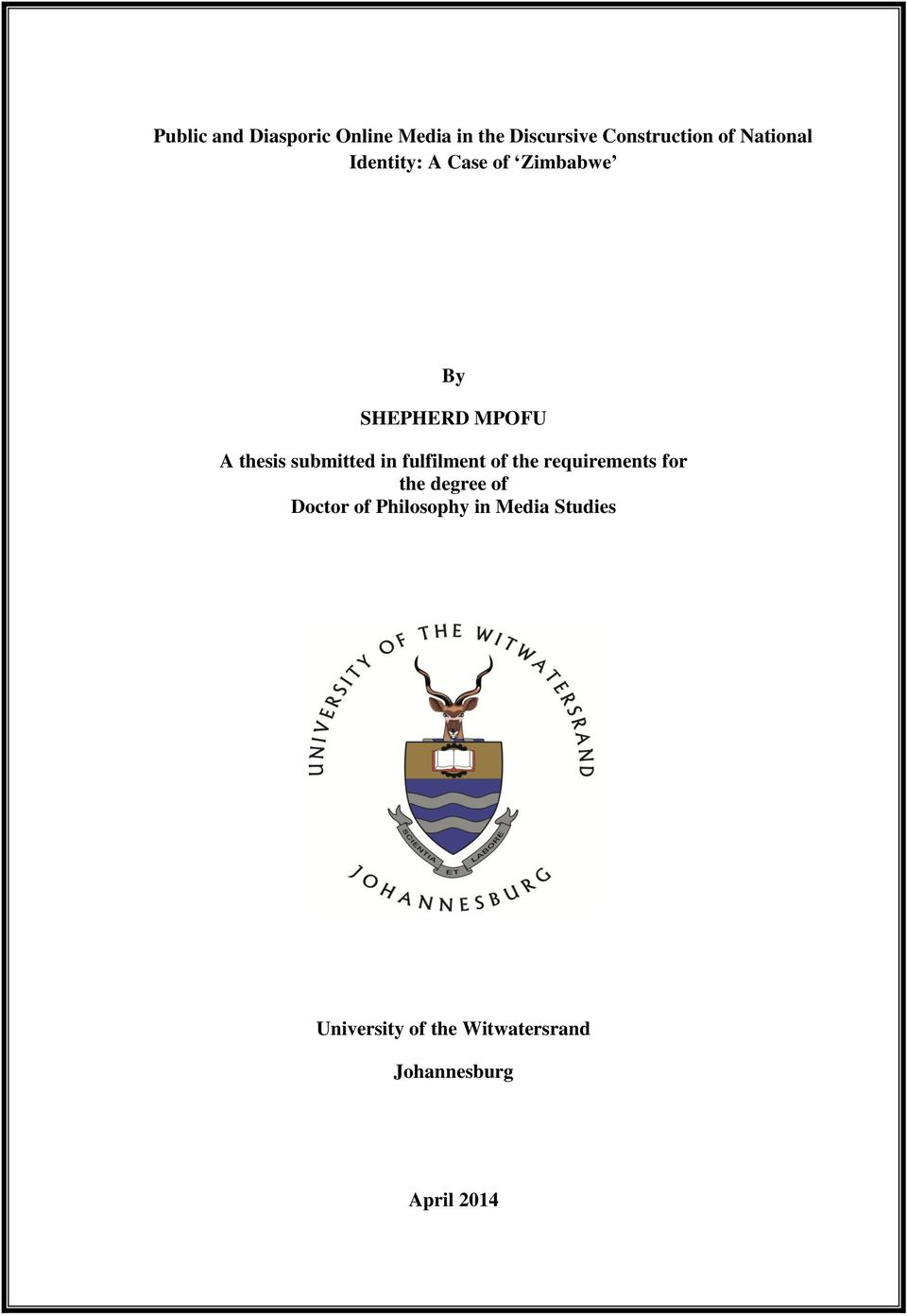 a thesis submitted for the degree of doctor of philosophy Introductory software engineering education by andrew patterson a thesis submitted in fulfilment of the requirements for the degree of doctor of philosophy.