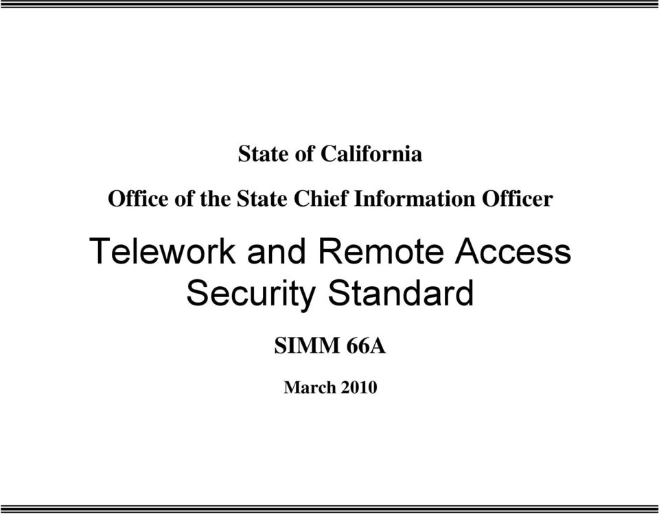 Officer Telework and Remote