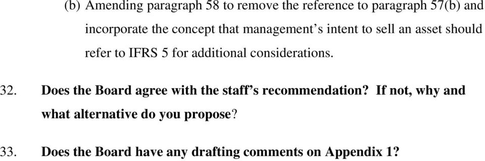 considerations. 32. Does the Board agree with the staff s recommendation?