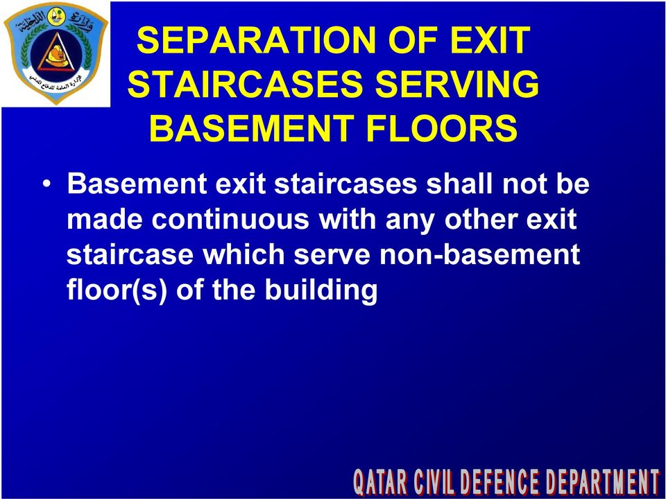 made continuous with any other exit staircase