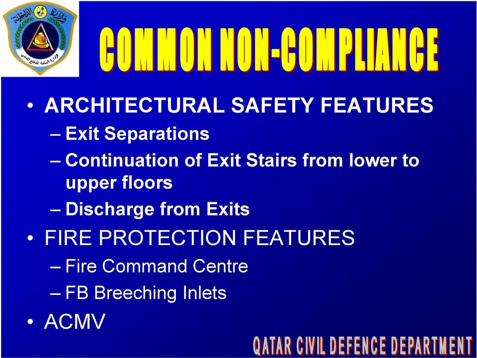 floors Discharge from Exits FIRE PROTECTION