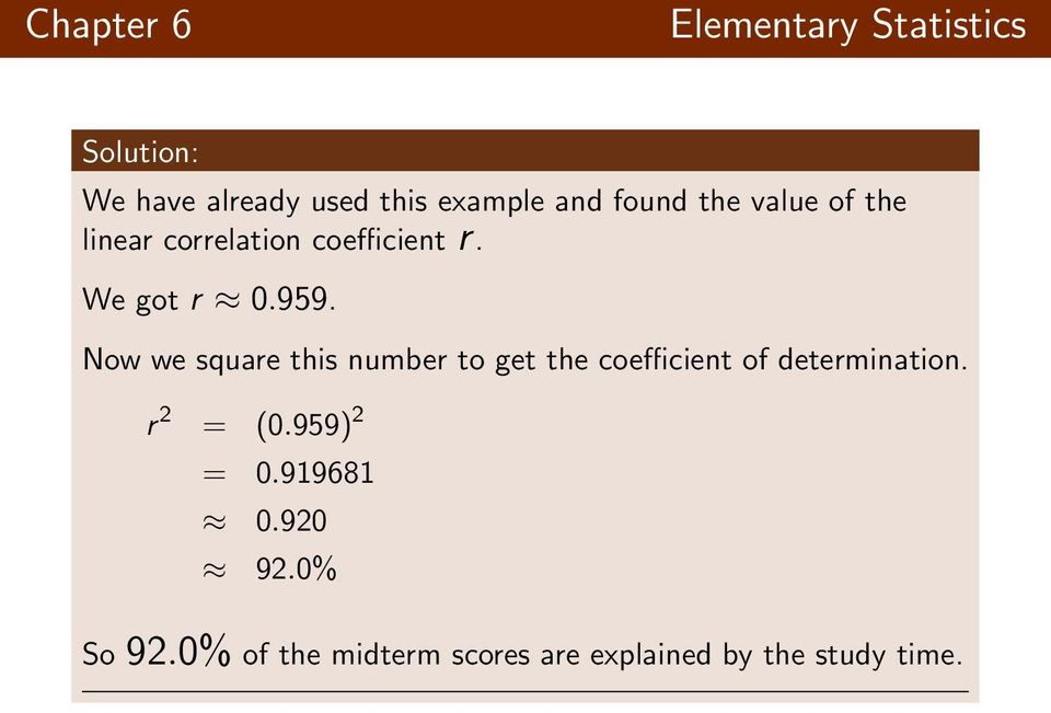 how to get the correlation coefficient r