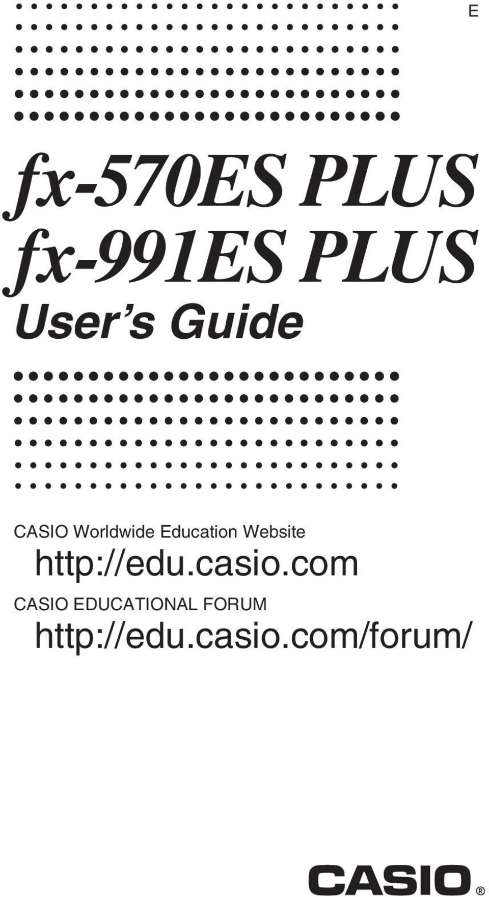 Website http://edu.casio.