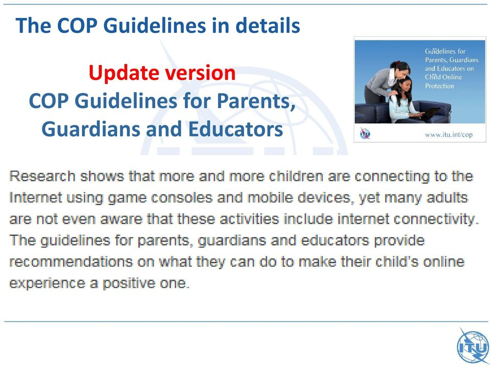 COP Guidelines for