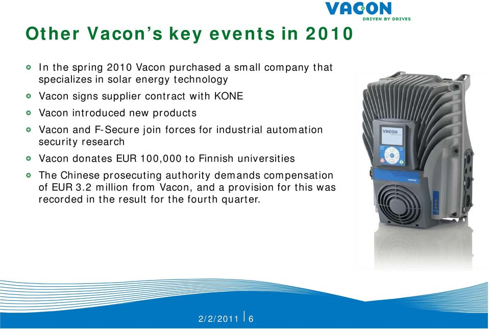 industrial automation security research Vacon donates EUR 1, to Finnish universities The Chinese prosecuting authority