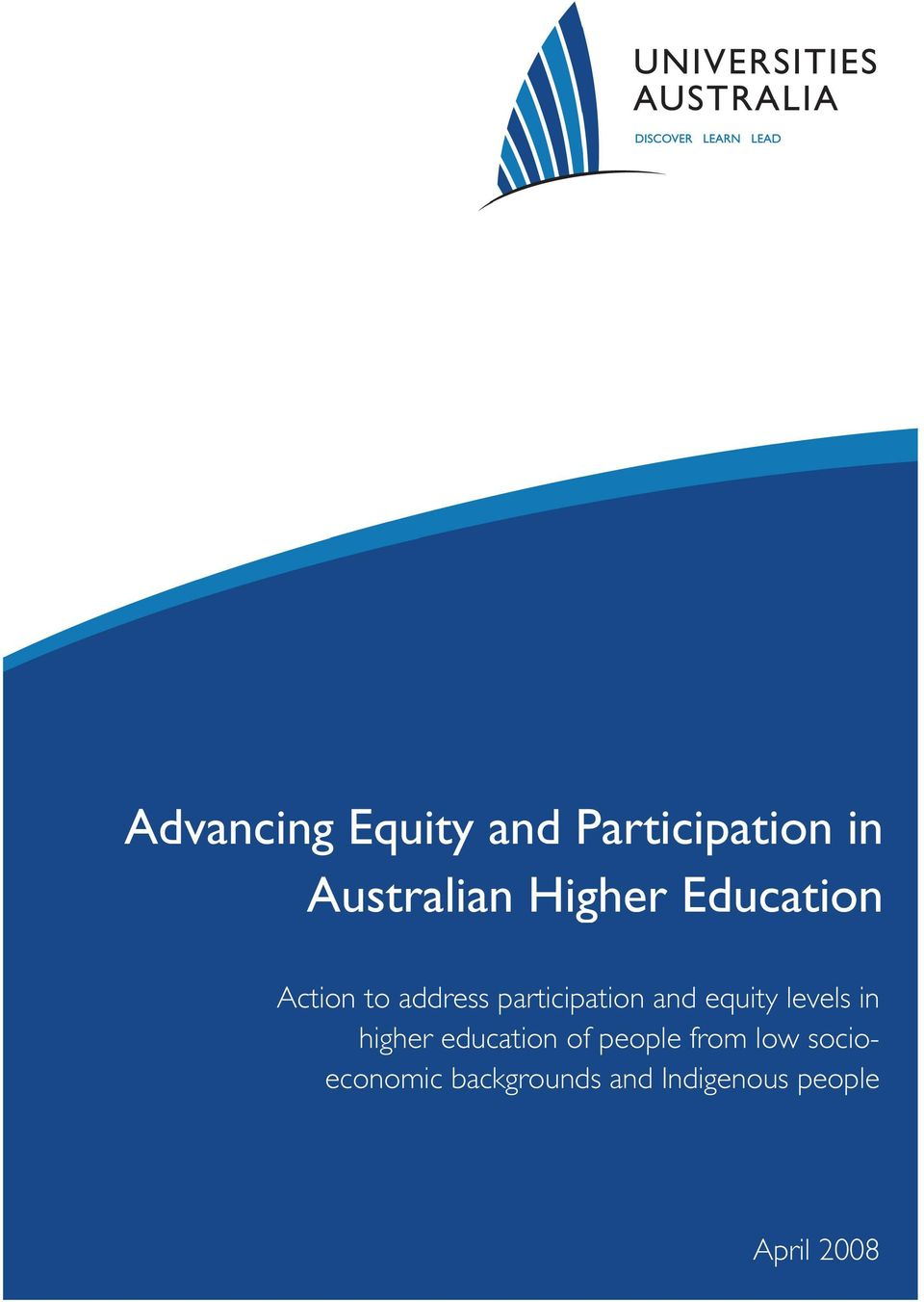 equity levels in higher education of people from low