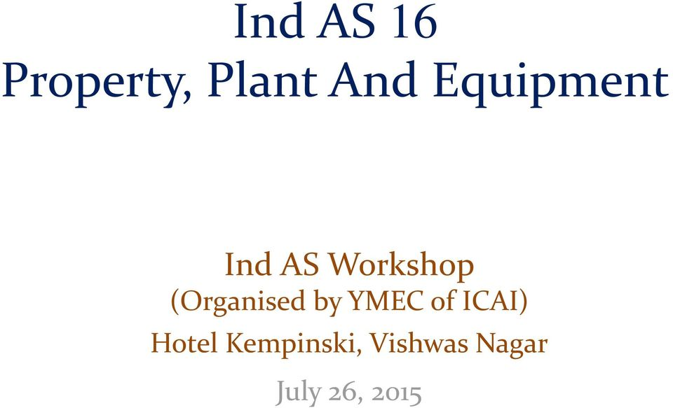 (Organised by YMEC of ICAI)