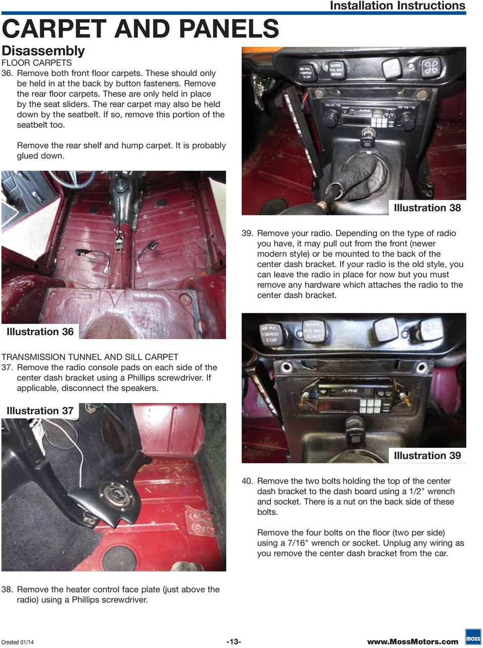 Tr6 Interior Installation Guide Pdf Fiero Headrest Speakers Wiring Diagram Car Pictures Instructions Remove The Rear Shelf And Hump Carpet It Is Probably Glued Down