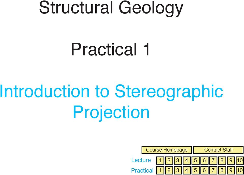 Lecture Practical Course Homepage