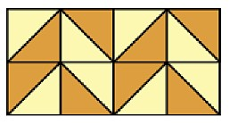 Ex#4: Solve application problems involving the perimeter and area of triangles and special quadrilaterals. The tile design shown is a rectangle with a base of 4in and a height of 2in.