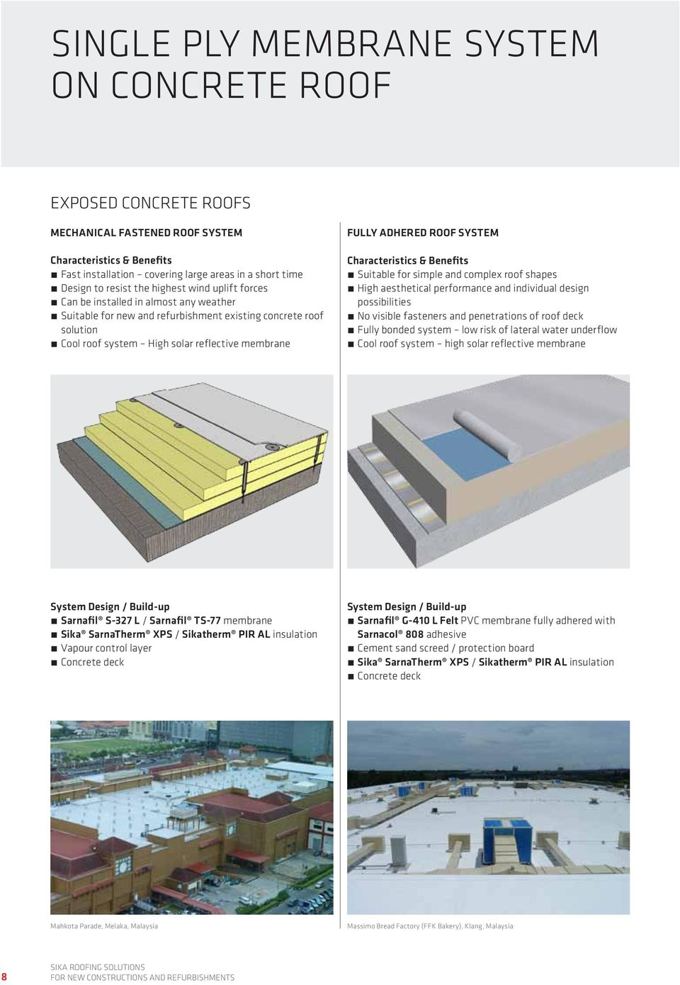 Roofing Sika Solutions For New Constructions And