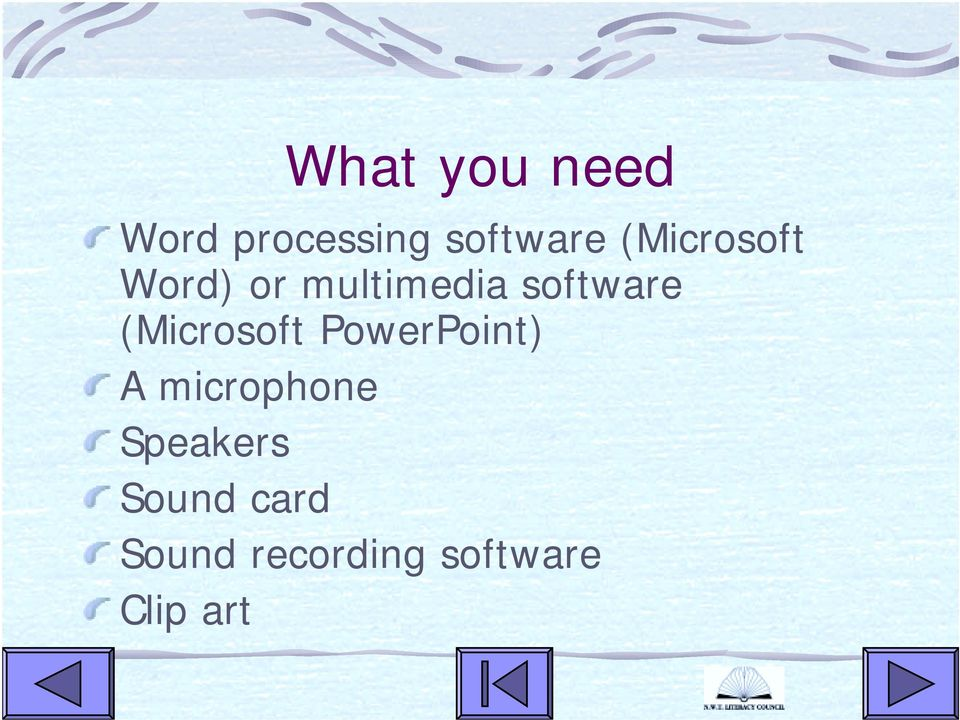 (Microsoft PowerPoint) A microphone