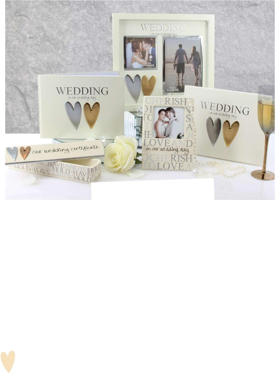 Wedding day double MDF photo frame WJ102WD ctn qty:12 29cm x 31cm x 3cm 4. Our Wedding Day Resin photo frame WJ110 ctn qty:32 3 x 3 photo 19cm x 14cm x 2cm 5.