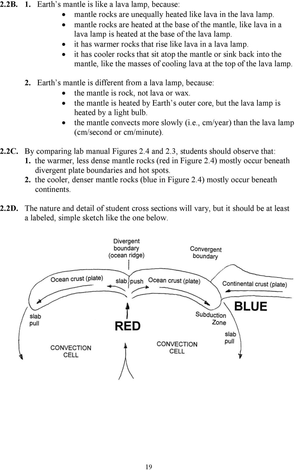 worksheet Lava Lamp Experiment Worksheet laboratory two plate tectonics and the origin of magma pdf it has cooler rocks that sit atop mantle or sink back into mantle