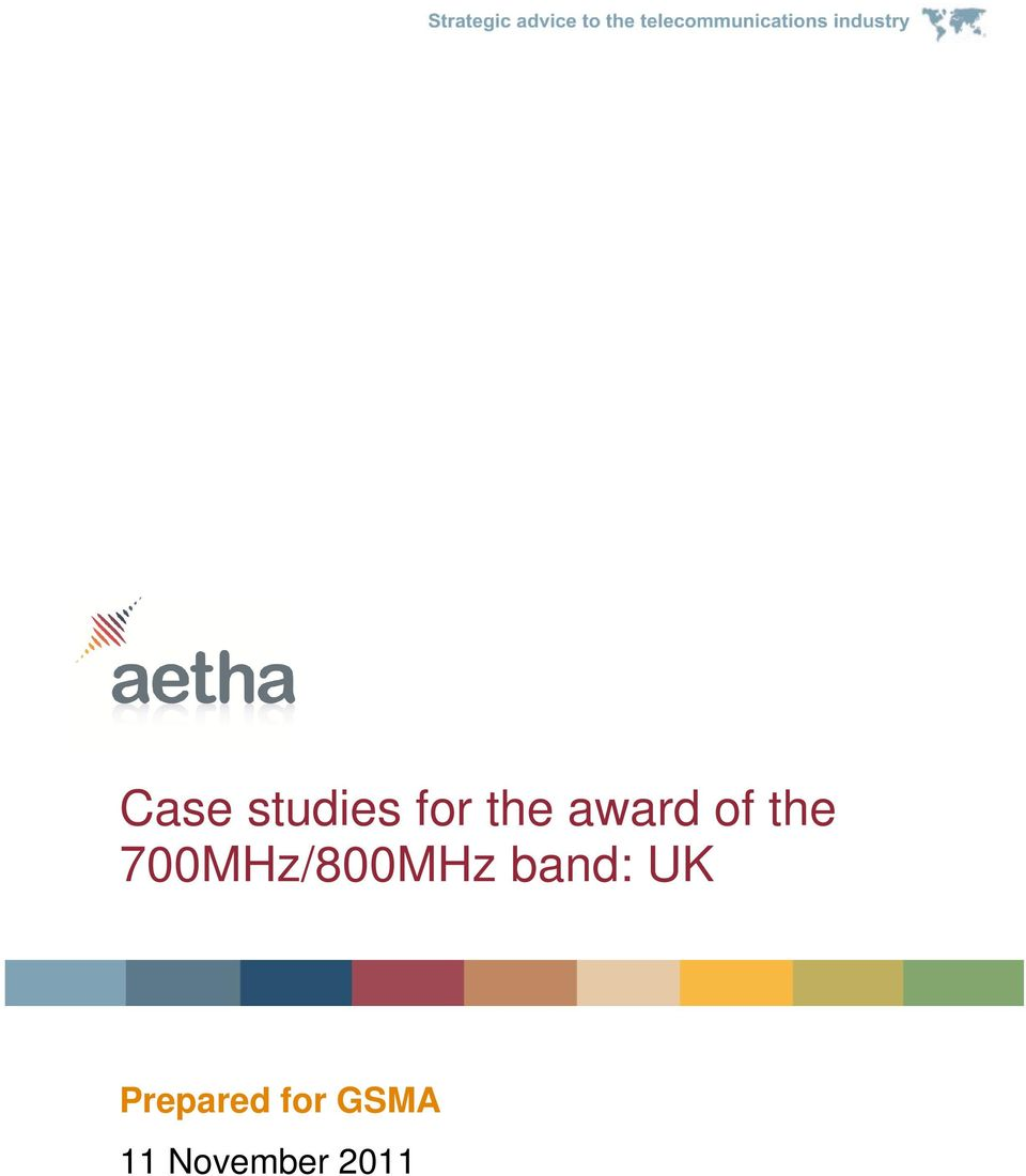 700MHz/800MHz band: UK