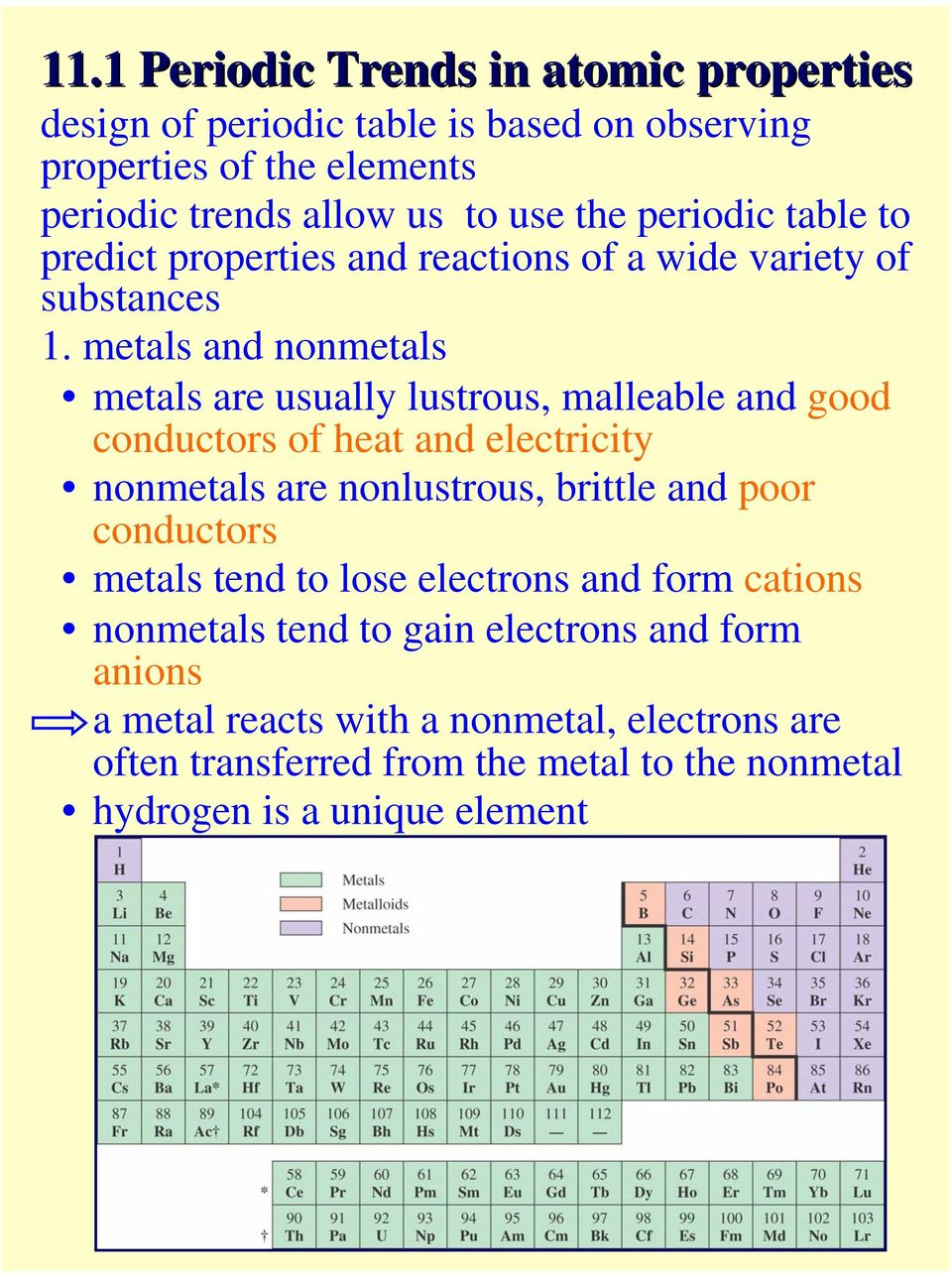 to predict properties and reactions of a wide variety of substances 1.