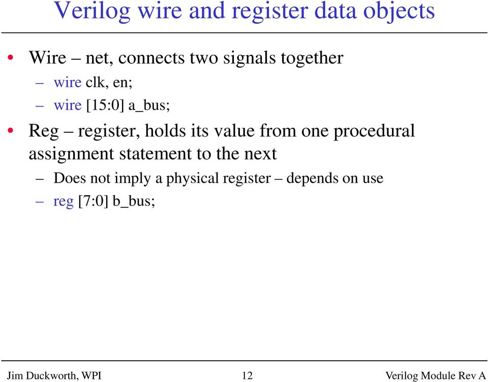Assign Statement In Verilog