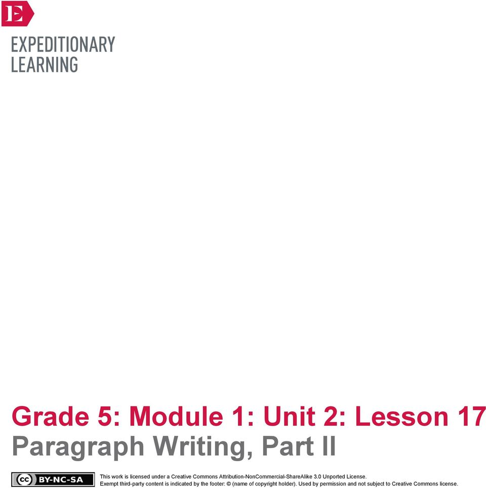 Paragraph writing for grade 2