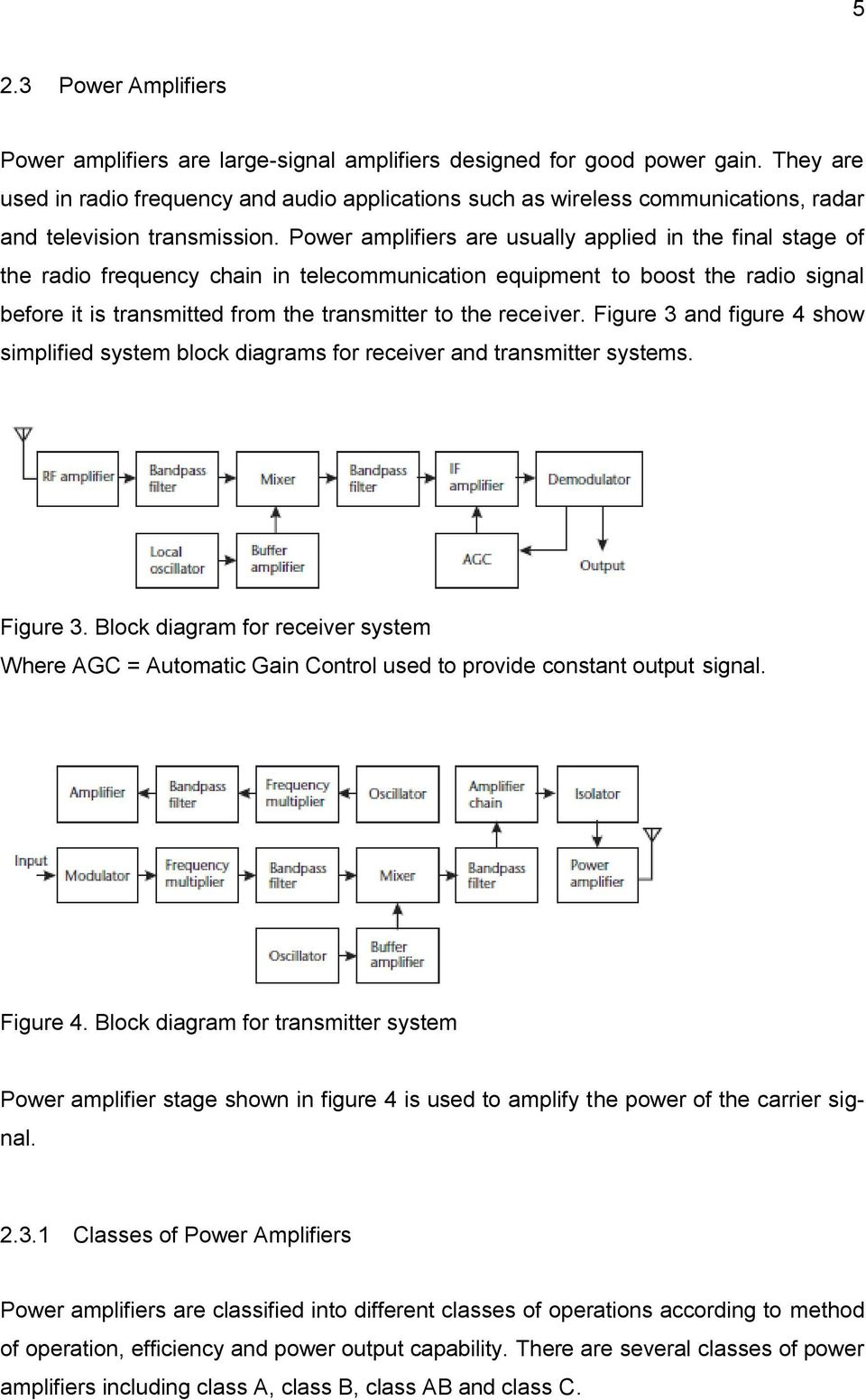 Class ab power amplifier thesis