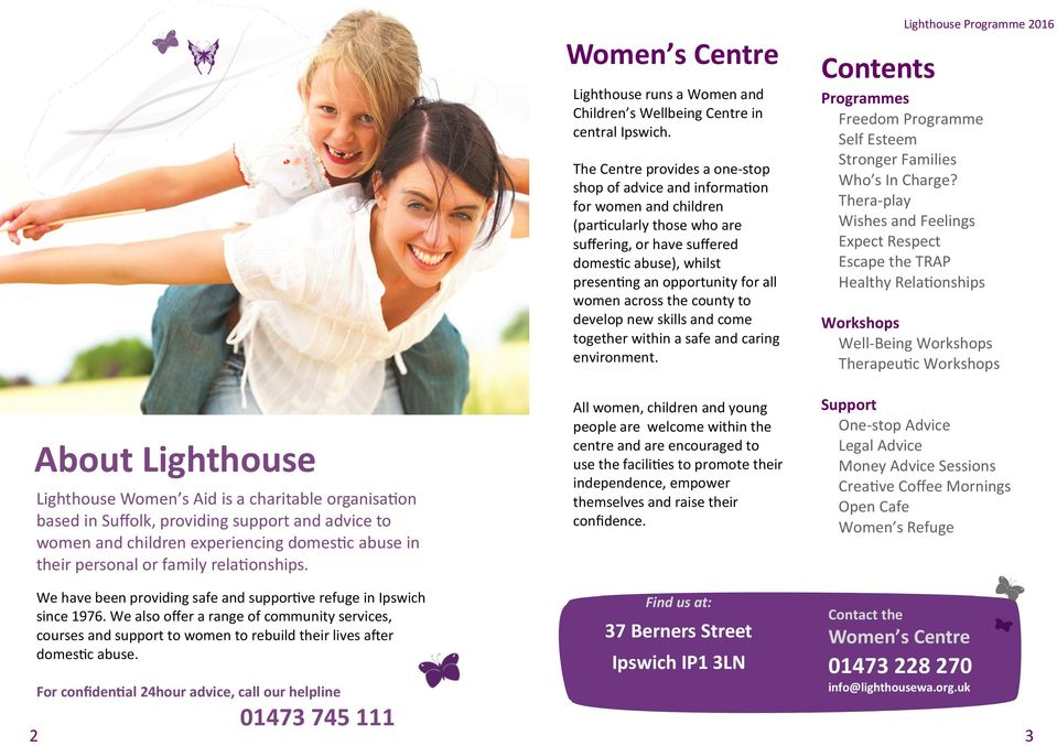 The Centre provides a one-stop shop of advice and information for women and children (particularly those who are suffering, or have suffered domestic abuse), whilst presenting an opportunity for all