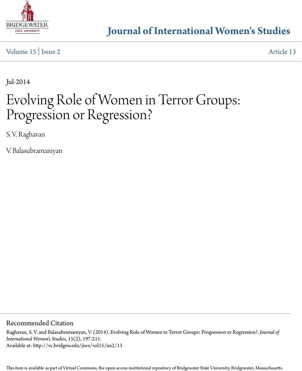 The evolving role of women in