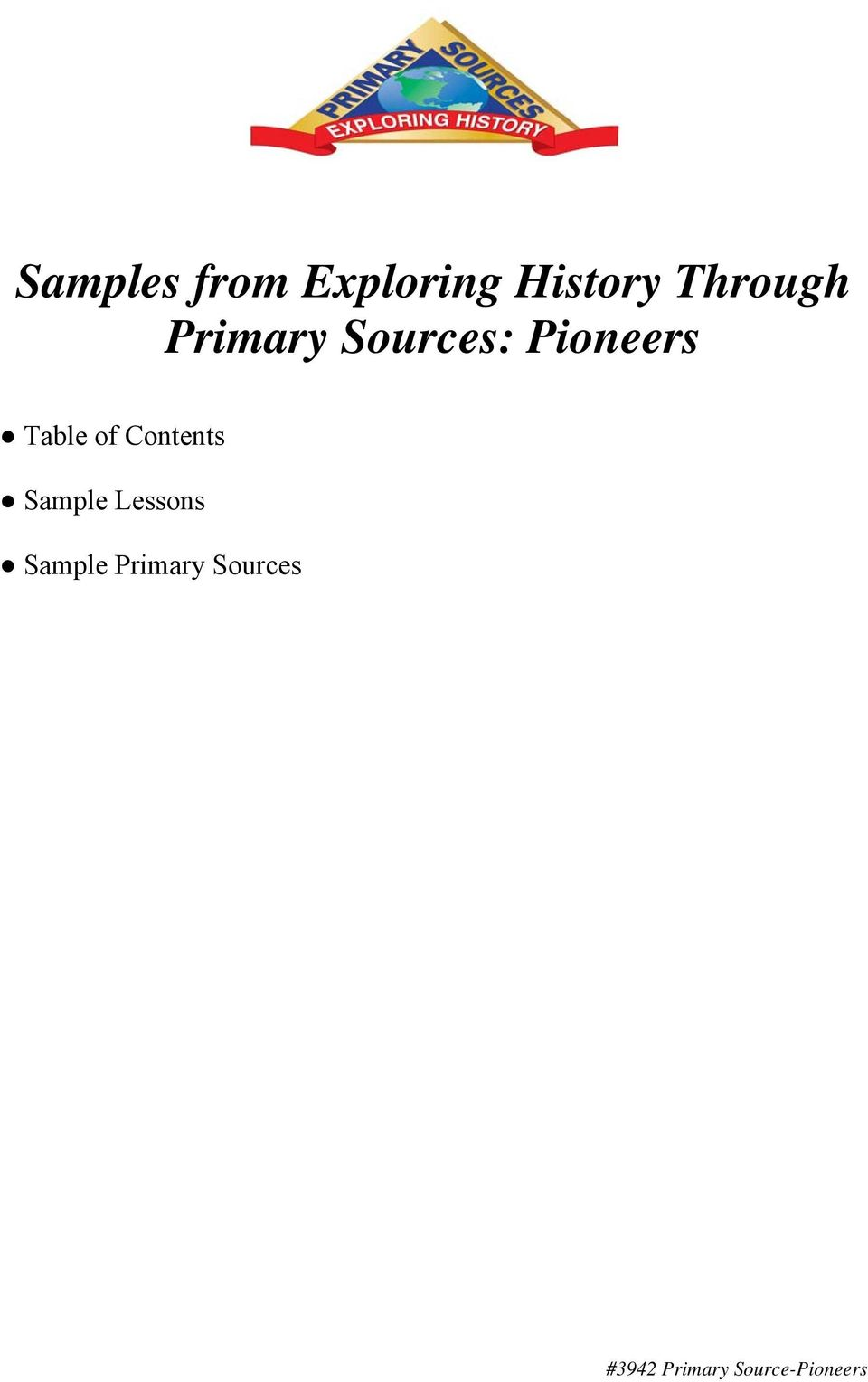 Table of Contents Sample Lessons
