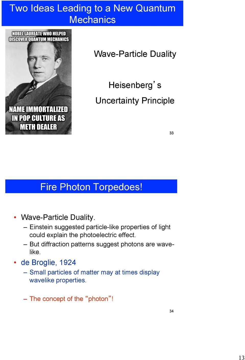 Einstein suggested particle-like properties of light could explain the photoelectric effect.