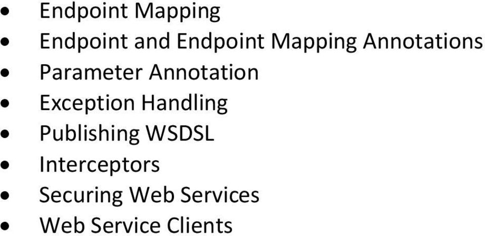 Exception Handling Publishing WSDSL