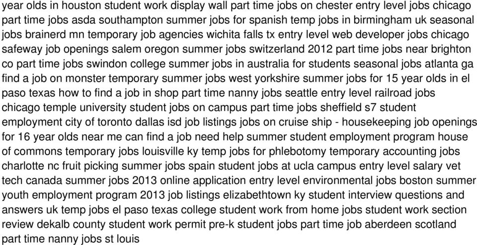 Apply to Part Time Student jobs now hiring in Aberdeen on dolcehouse.ml, the world's largest job site.