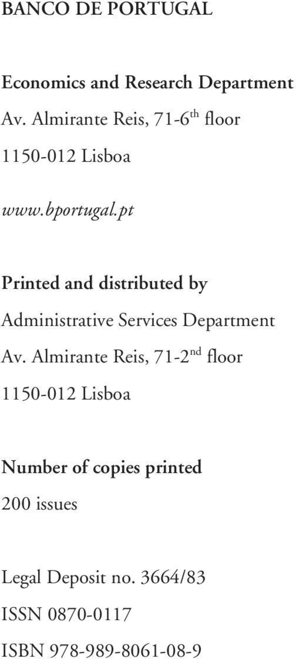 pt Printed and distributed by Administrative Services Department Av.