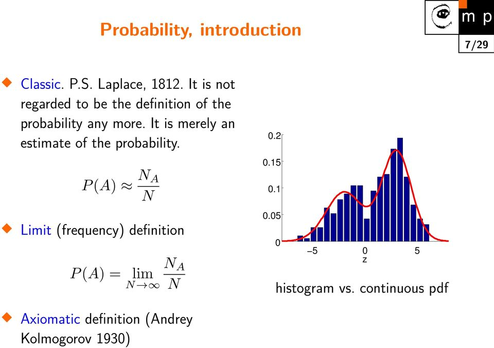 It is merely an estimate of the probability.
