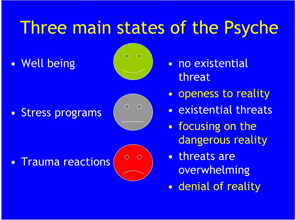 openess to reality existential threats focusing on