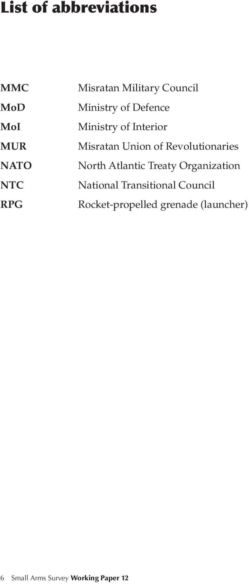 Revolutionaries North Atlantic Treaty Organization National Transitional