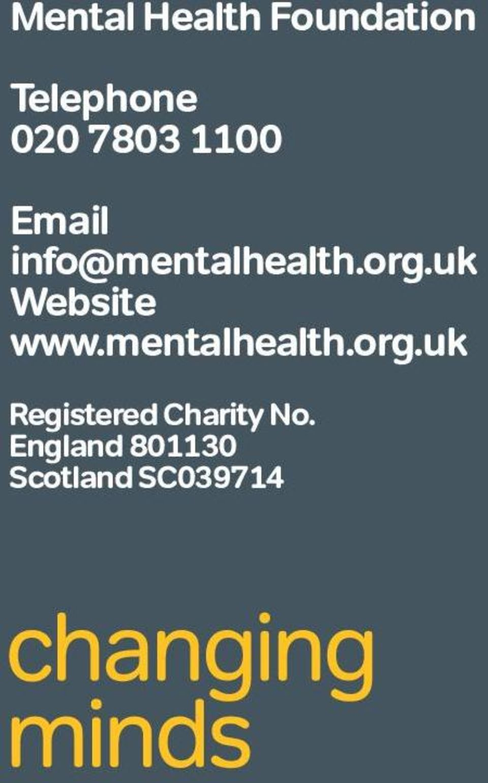 uk Website www.mentalhealth.org.