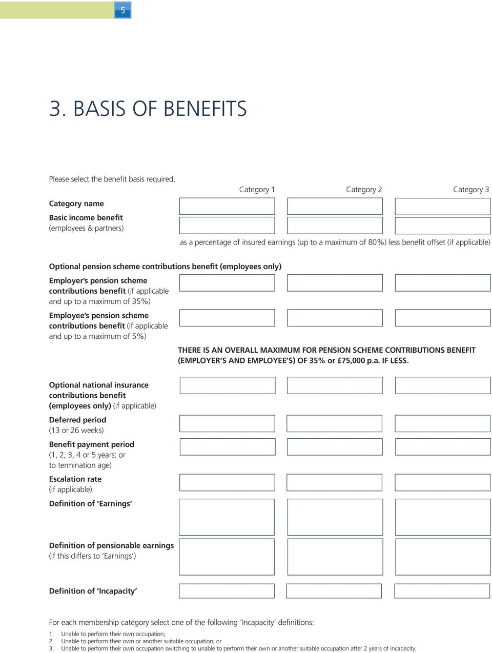 pension scheme contributions benefit (employees only) Employer s pension scheme contributions benefit (if applicable and up to a maximum of 35%) Employee s pension scheme contributions benefit (if