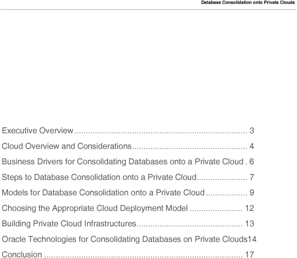 6 Steps to Database Consolidation onto a Private Cloud.