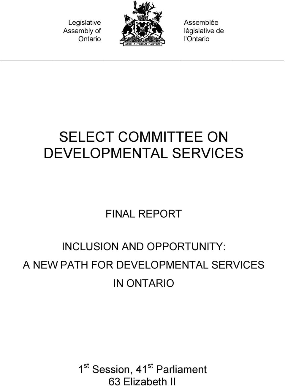 REPORT INCLUSION AND OPPORTUNITY: A NEW PATH FOR