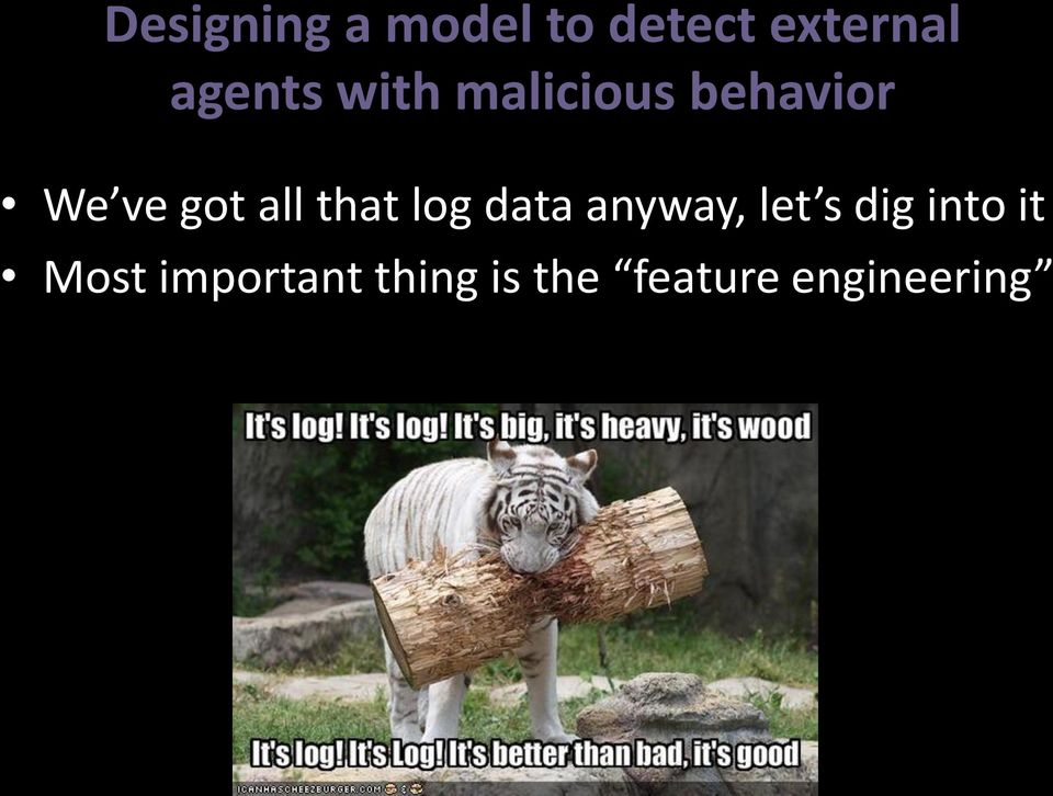 all that log data anyway, let s dig into