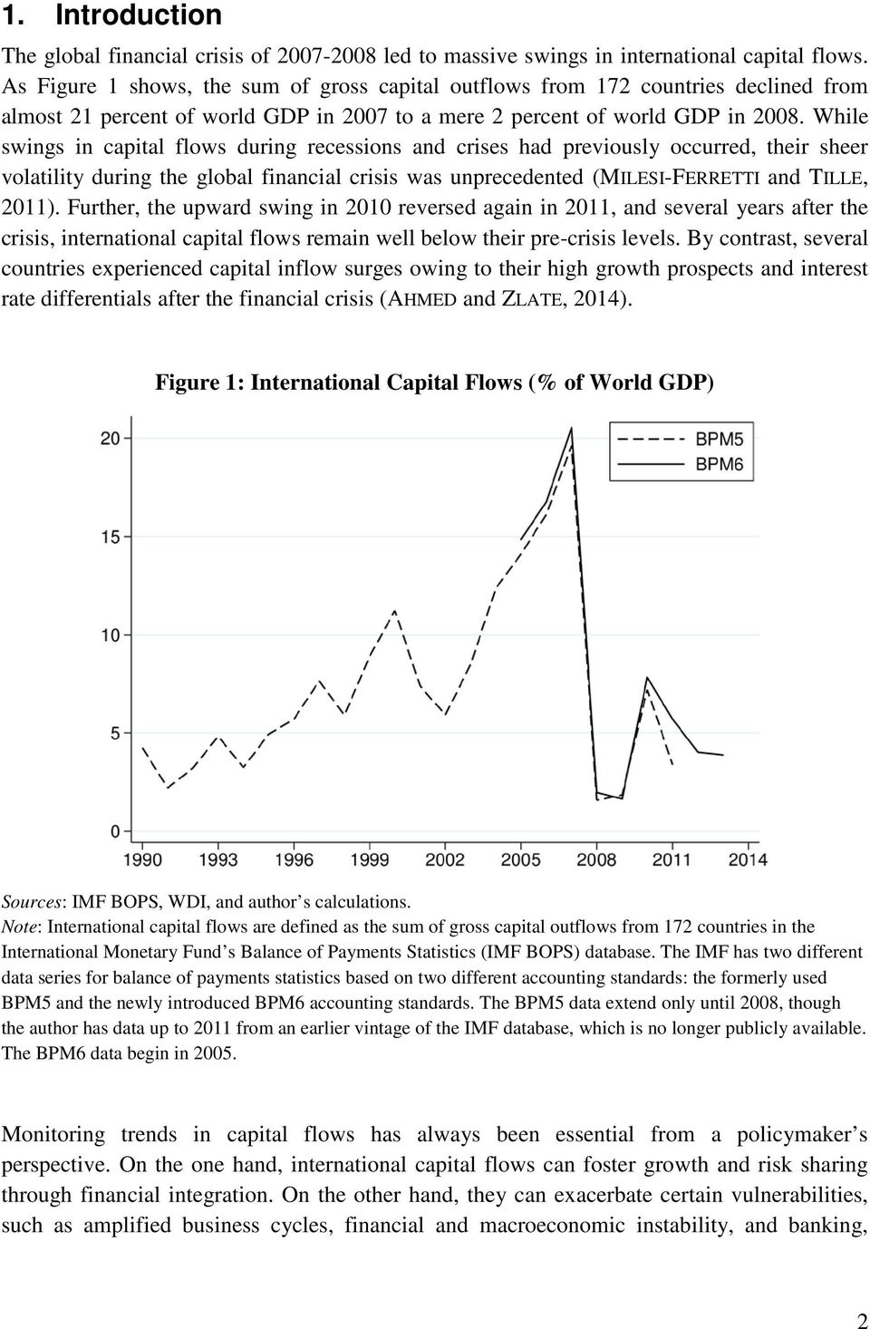 While swings in capital flows during recessions and crises had previously occurred, their sheer volatility during the global financial crisis was unprecedented (MILESI-FERRETTI and TILLE, 2011).